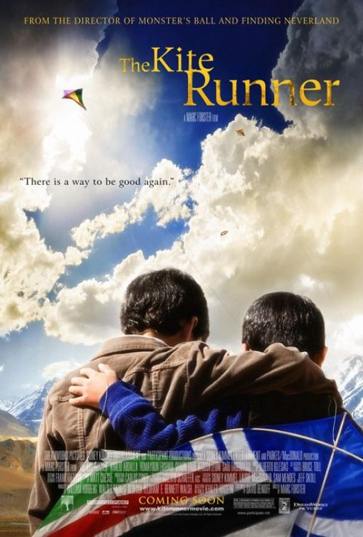 """The Kite Runner"" Two Afghani boys flying kite"