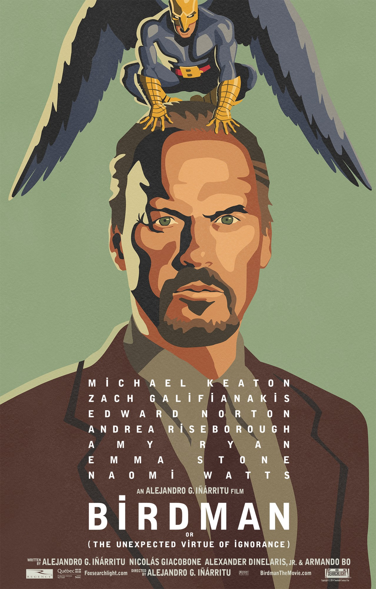 Mega Sized Movie Poster Image for Birdman
