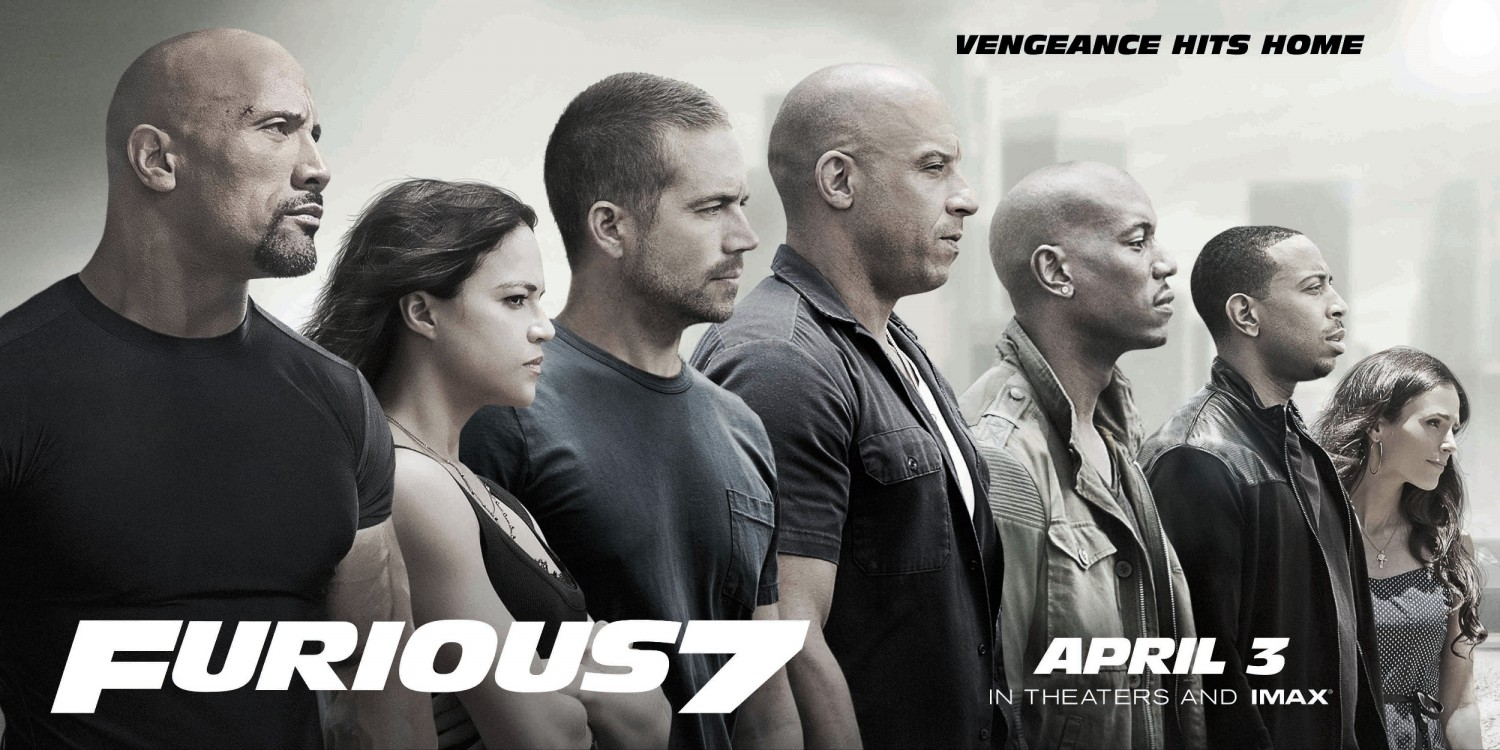 Extra Large Movie Poster Image for Furious 7
