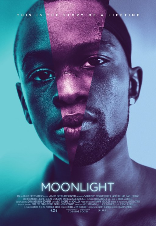 """Moonlight"" African American man with colour over his face"