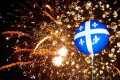 Grands feux d'artifice de la fête nationale du Québec « avec drapeaux du Québec »!