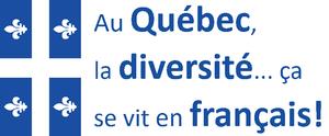 Autocollants - Au Québec la diversité... ça se vit en français