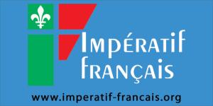 Logo Impératif français fond bleu