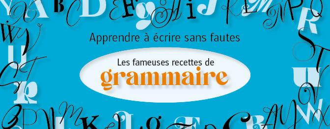 Recettes de grammaire