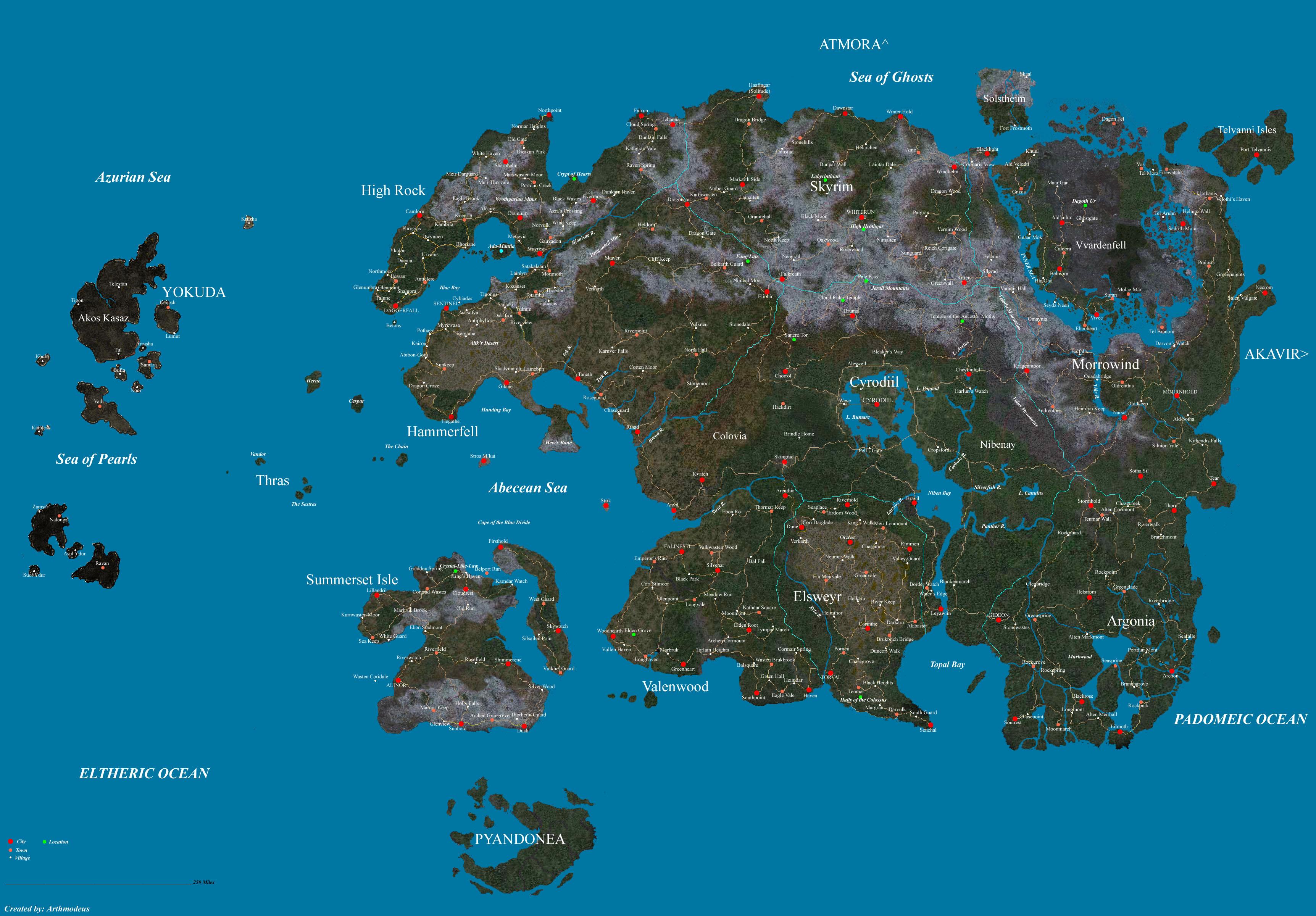 Map Cyrodiil Oblivion Elder Scrolls
