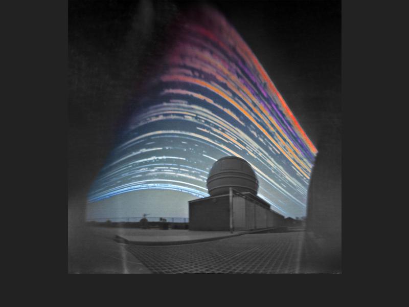 Solar Trails above the Telescope