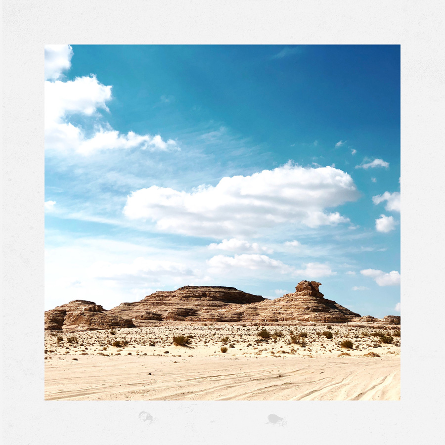 Vista da una collina nel deserto
