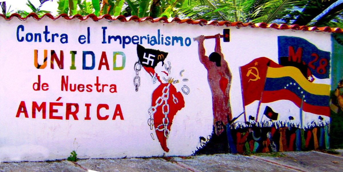 Bolivarian mural against Imperialism & United States