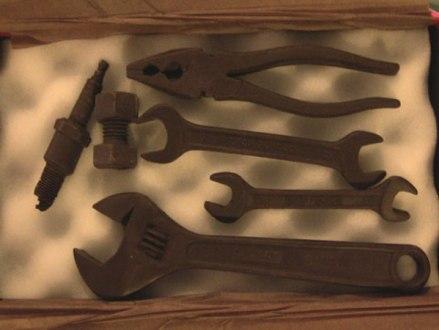 工具のチョコレート