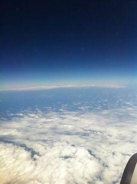 香港からの帰りの空