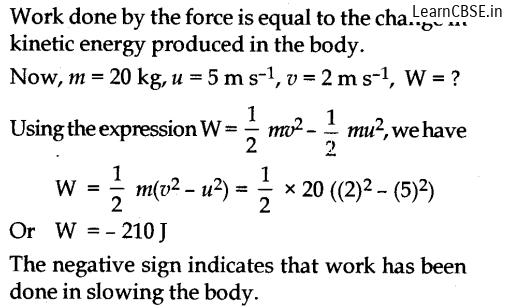 NCERT Solutions for Class 9 Science work power and energy page 152