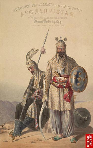 Lithographie de soldats royaux afghans