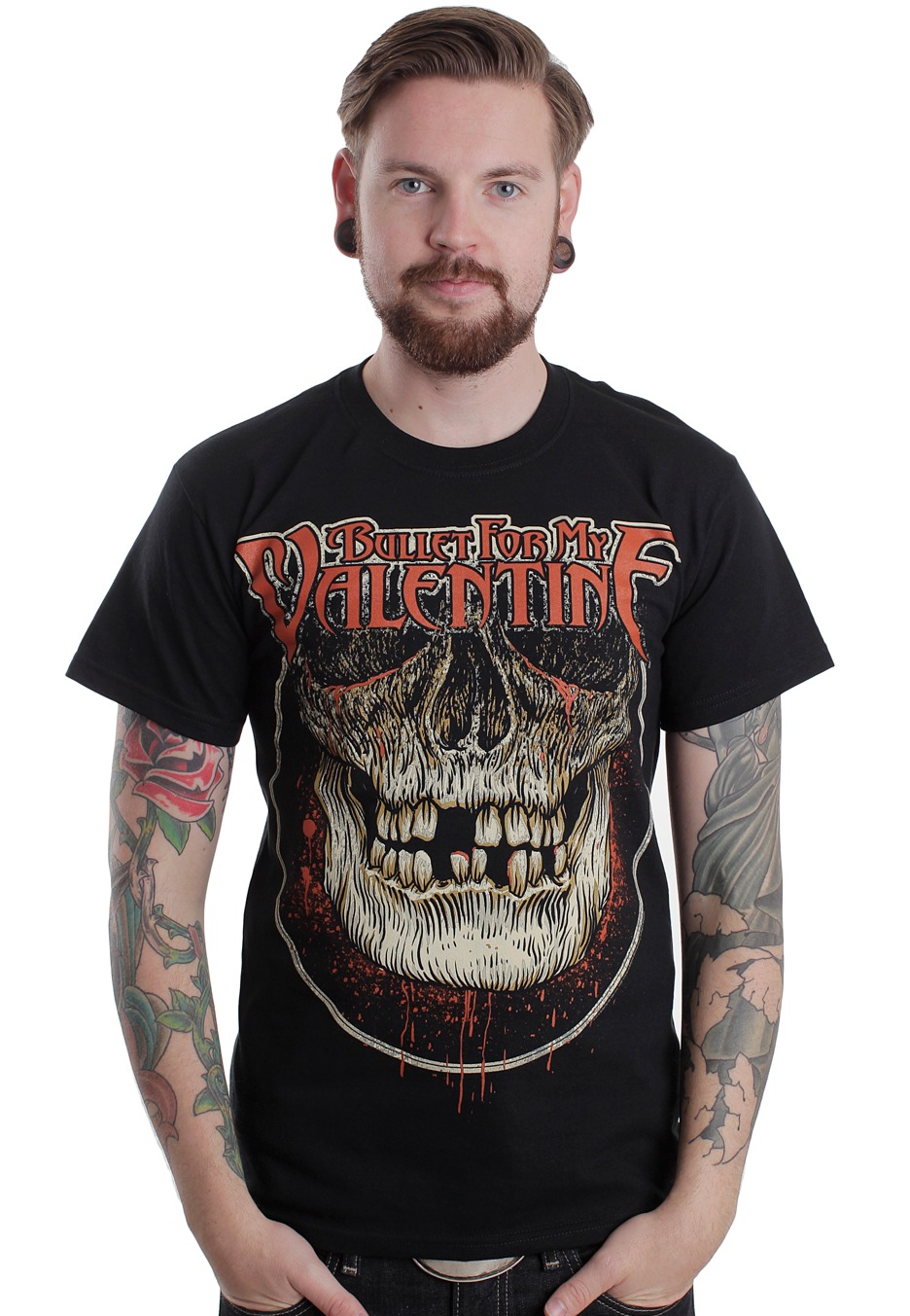 Bullet For My Valentine Circle Skull T Shirt