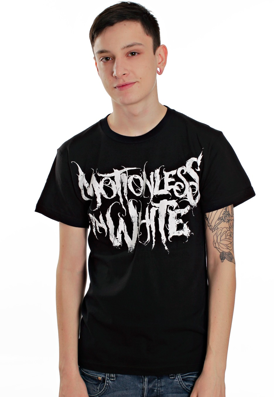 Black Motionless White Logo