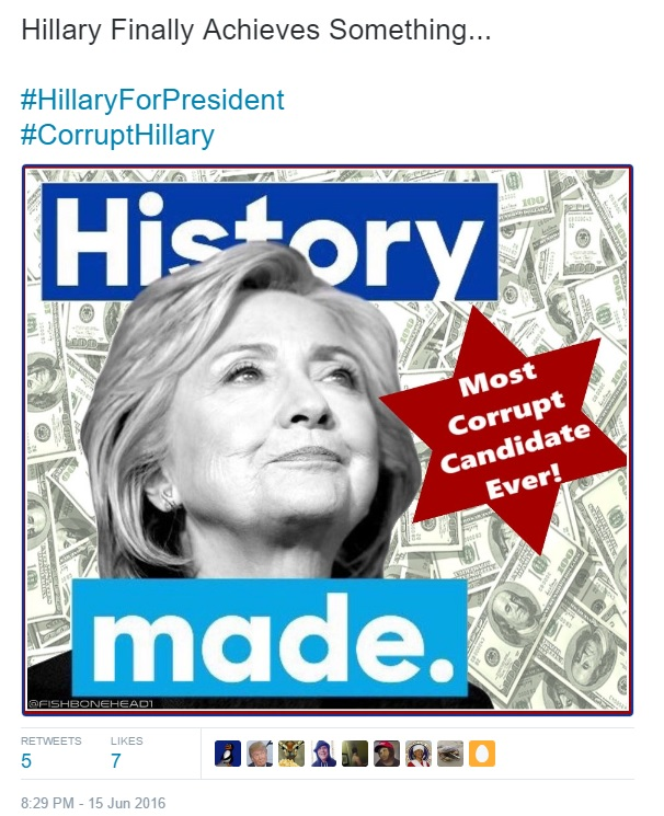 Donald Trump's Hillary Clinton 'Star of David' meme was probably created by White Supremacists