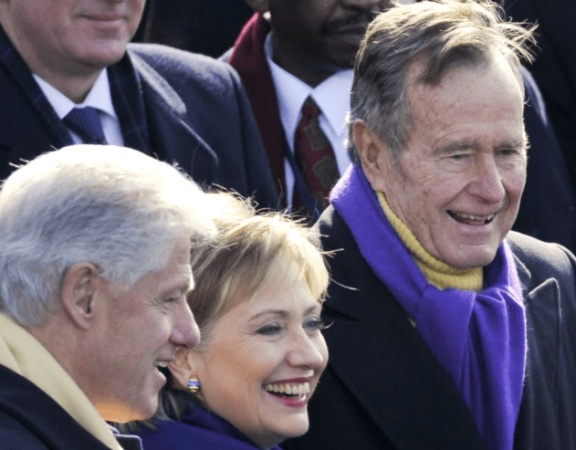 So it looks like George H.W. Bush is voting for Hillary Clinton