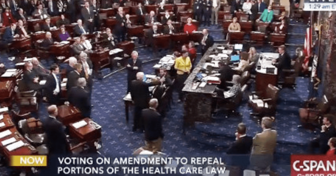 BAH GAWD! Jim Ross calls John McCain's thumbs down Skinny Repeal vote on the Senate Floor