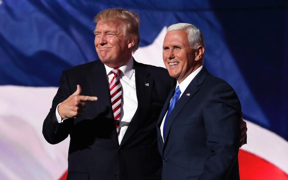 "Donald Trump joked that Mike Pence wanted to ""hang"" gay people"