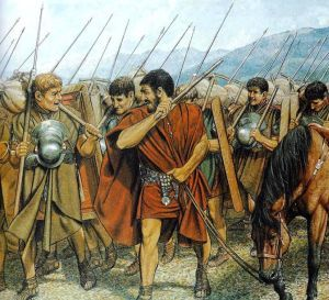 After hard training and everyday military drill, Roman legionaries were able to march 37.5 kilometers a day with the baggage weighing even 36 kilograms.