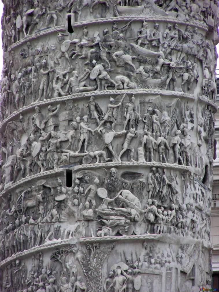 Detalle de los relieves de la columna de Marco Aurelio.