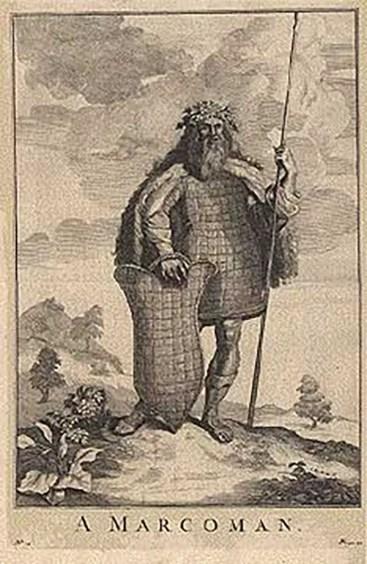Ilustración de un guerrero Marcomano.