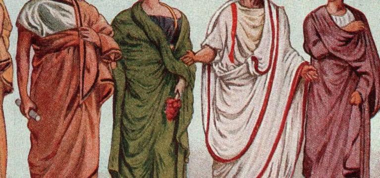 Las prendas de vestir cotidianas de los romanos