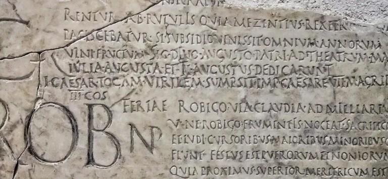 El calendario romano, el fasti