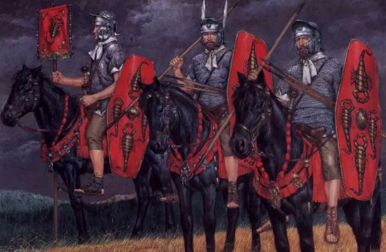 Ilustración de caballeros pretorianos.
