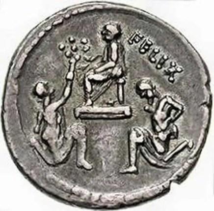 Moneda mostrando el triunfo en honor a Sula.