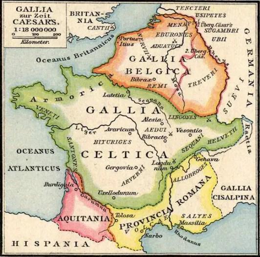 La división de las Galias.
