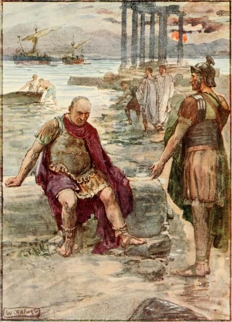 Gayo Mario en el exilio sentado en las ruinas de Cártago.
