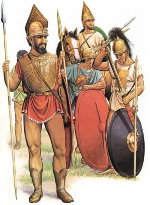 Ilustración de soldados romanos.