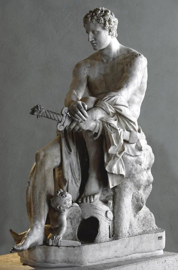 Ares de Ludovisi, estatua en mármol del siglo II posiblemente copia de una estatua griega más antigua en bronce.