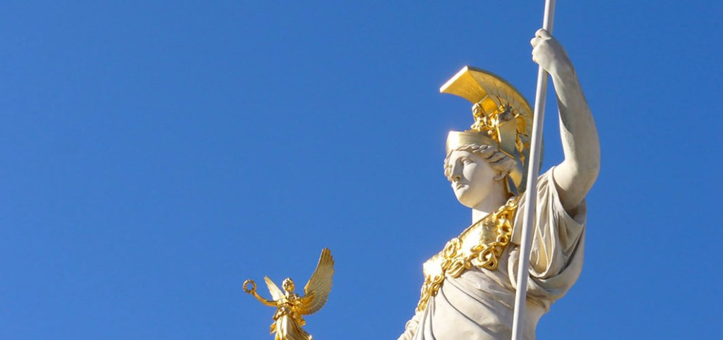 Cabezal de la diosa Atenea.