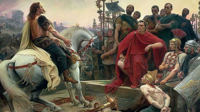 Rendición de Vercingétorix, la Guerra de las Galias.