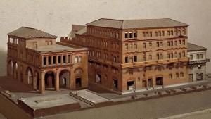 Modelo a escala de una insula. Las insulas eran las viviendas populares de la clase trabajadora de Roma.