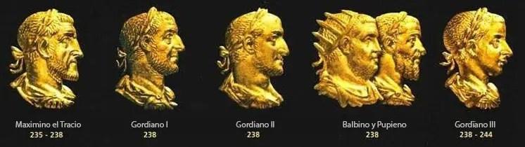 Año de los seis emperadores y dinastía gordiana.