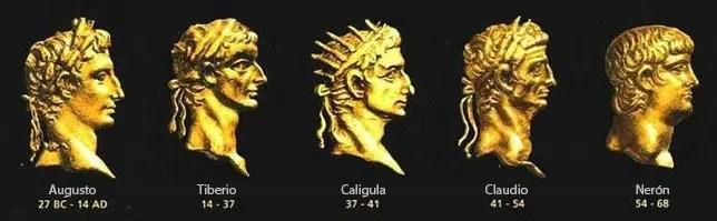 Emperadores de la dinastía Julio-Claudia.