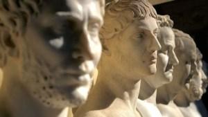 Bustos de varios emperadores romanos.
