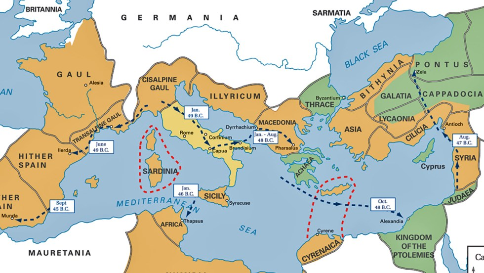 Cabezal de los mapas militares romanos.