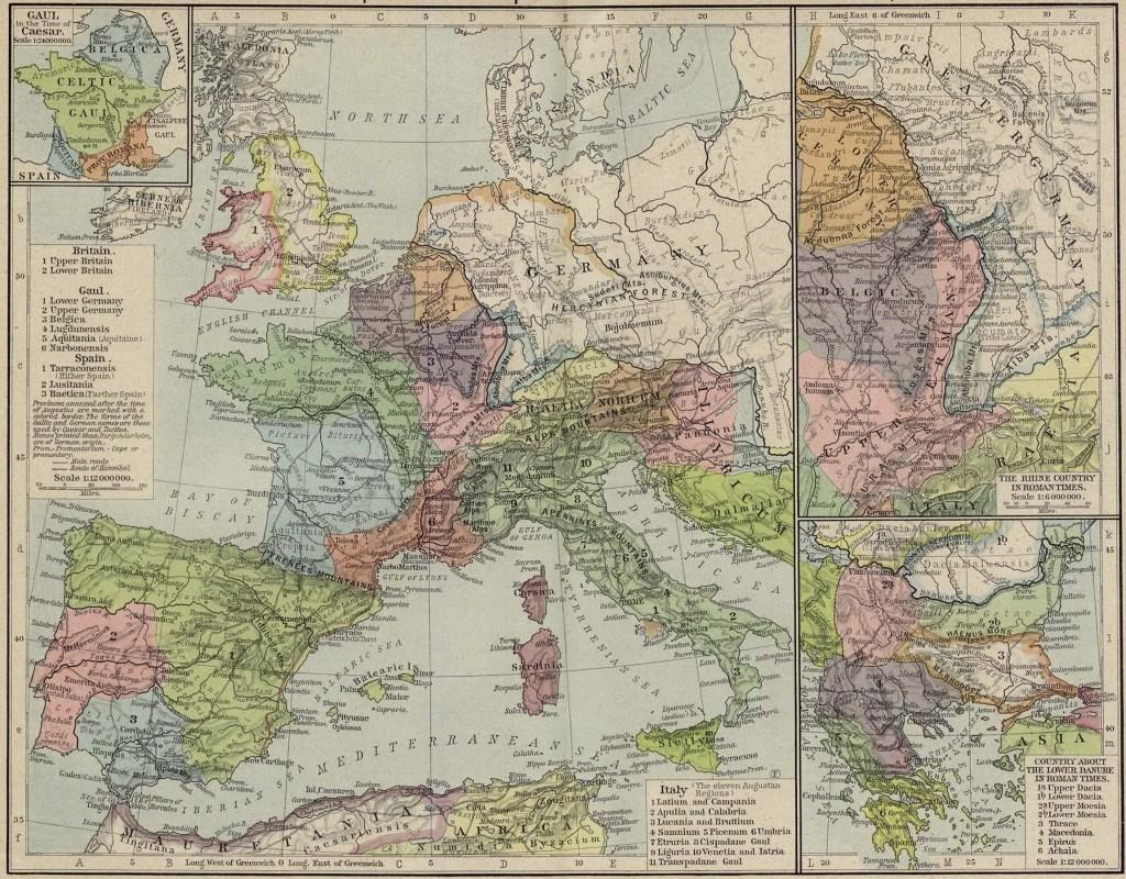 Mapa del Imperio romano en el año 117 d. C.