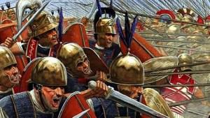 Principes en combate, soldados de la República Romana.