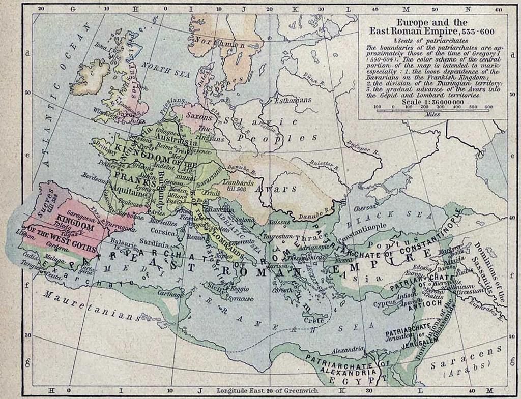 Mapa imperio romano oriental.
