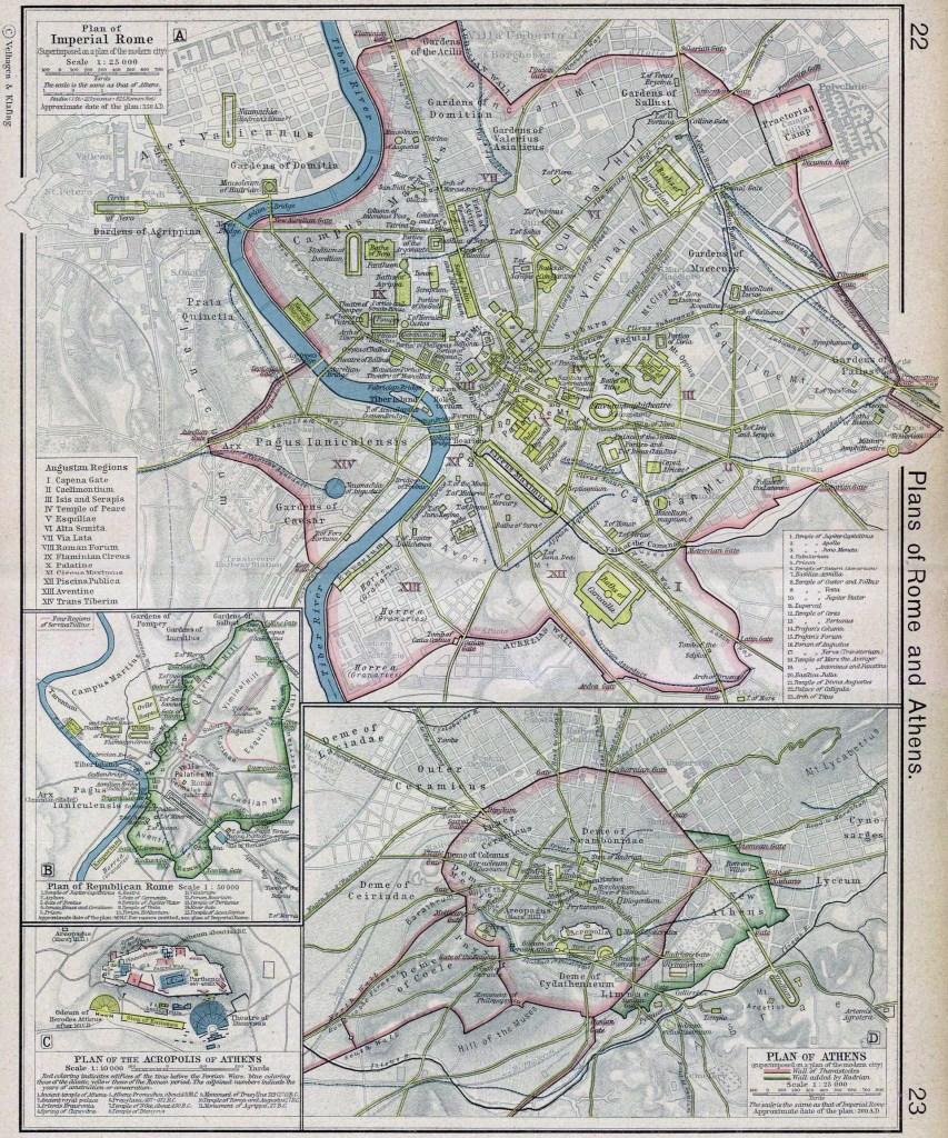 Planos de Roma y Atenas.