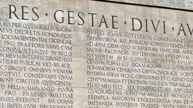Res Gestae, Octavio Augusto – traducción al español