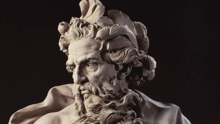 Busto del dios de Poseidón.