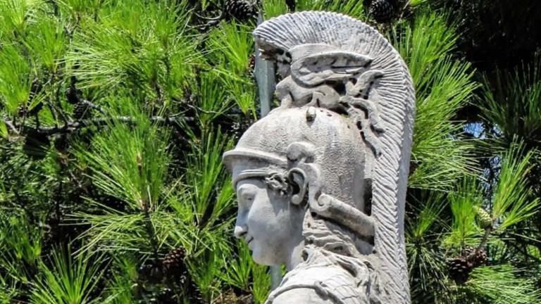 Estatua de la diosa Atenea.