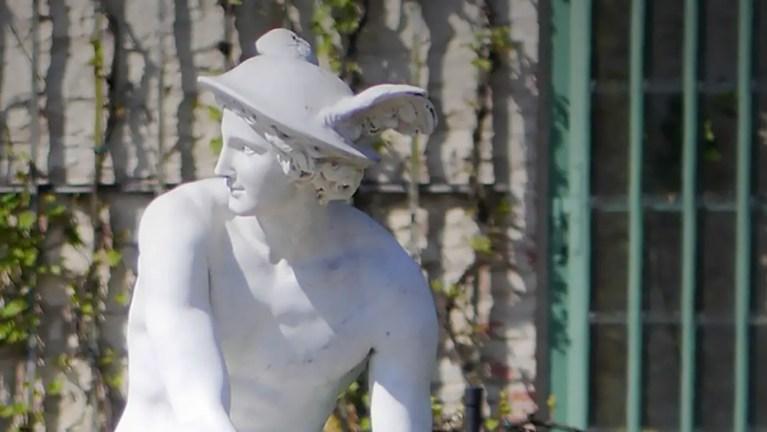 Estatua del dios Hermes.