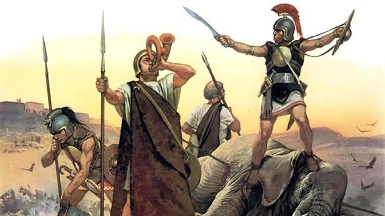 Soldados celtiberos de las guerras púnicas.