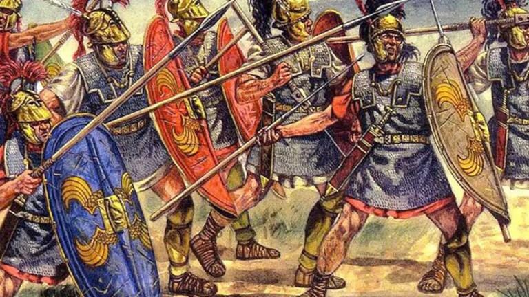 Ilustración de legionarios de la República romana.